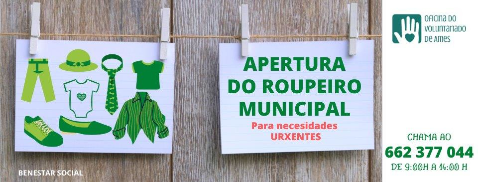 Apertura do roupeiro municipal