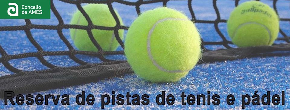 Reserva de pistas de tenis e pádel