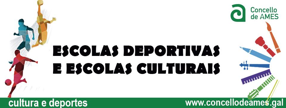 Escolas deportivas e culturais
