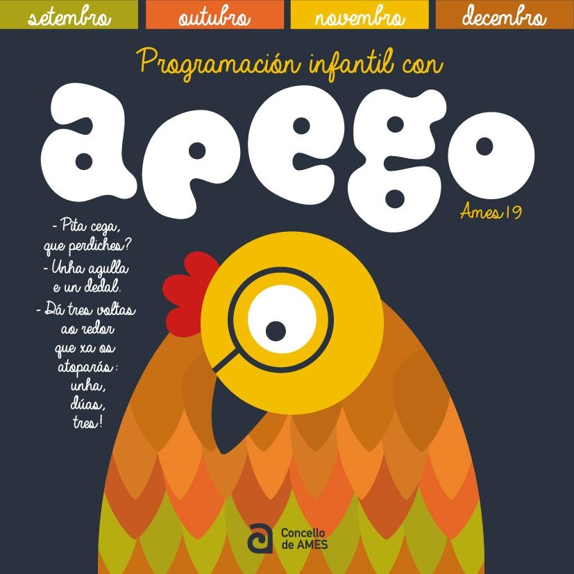 Imaxe da portada do folleto da programación con Apego