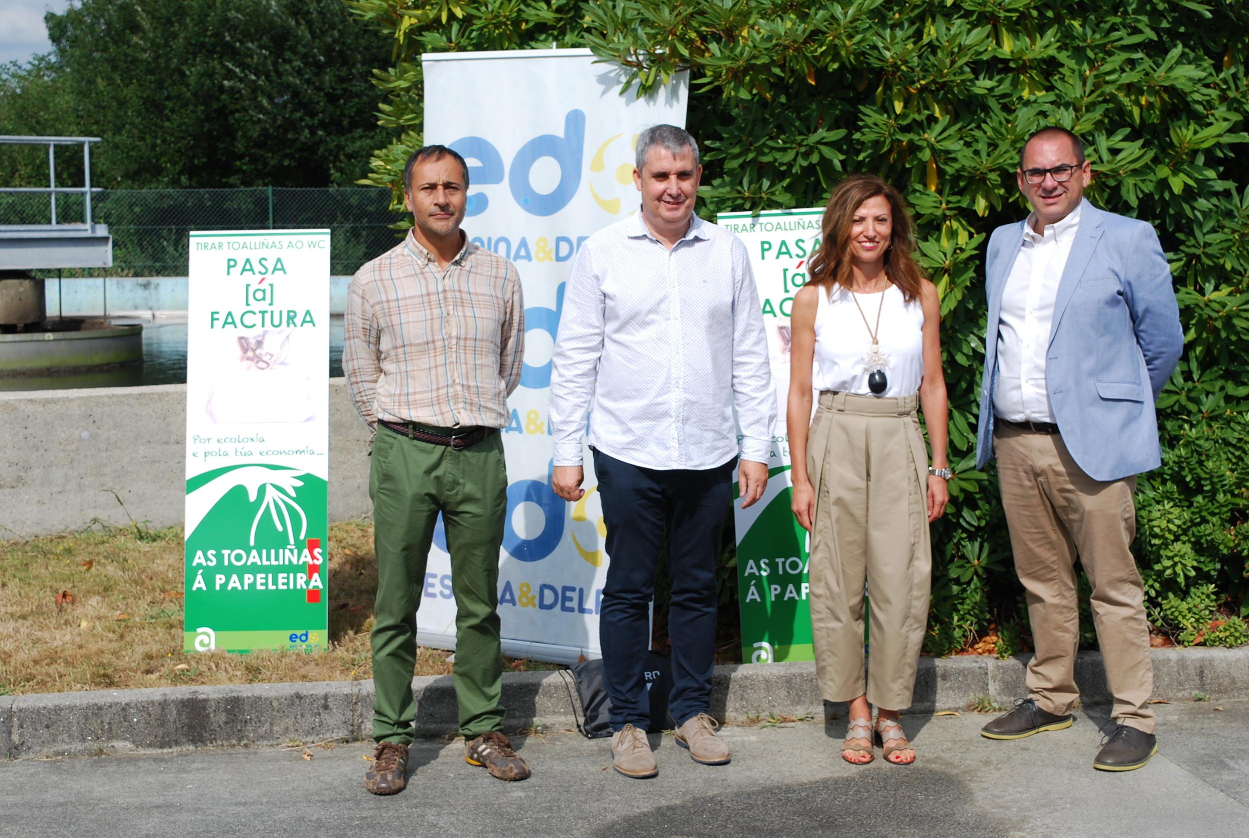 """Presentación da campaña """"Tirar toalliñas ao WC PASA [á] FACTURA. As toalliñas á PAPELEIRA!"""""""