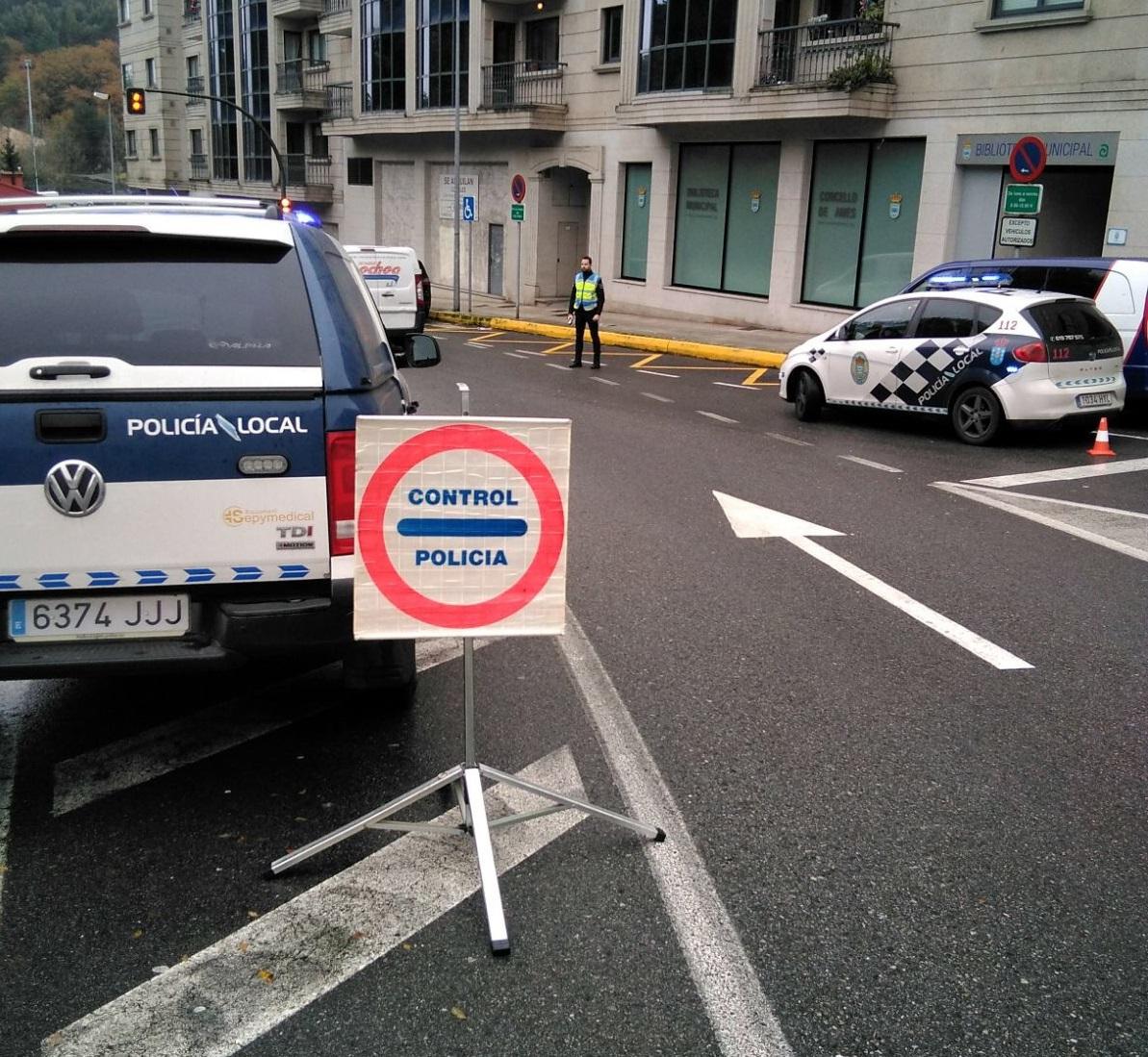 Imaxe de arquivo dun control feito pola Policía Local