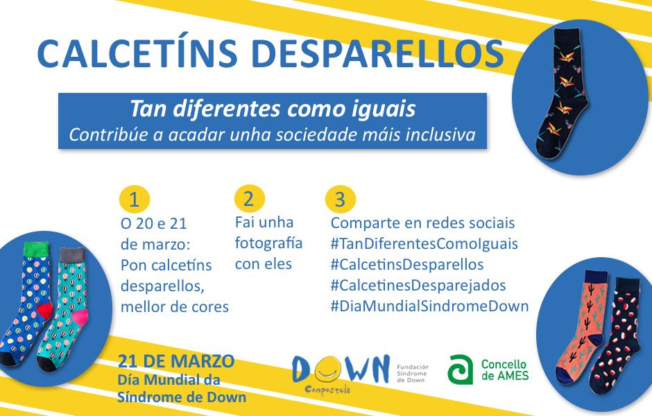 Campaña Calcetíns Desparellos do Día Mundial da Síndrome de Down