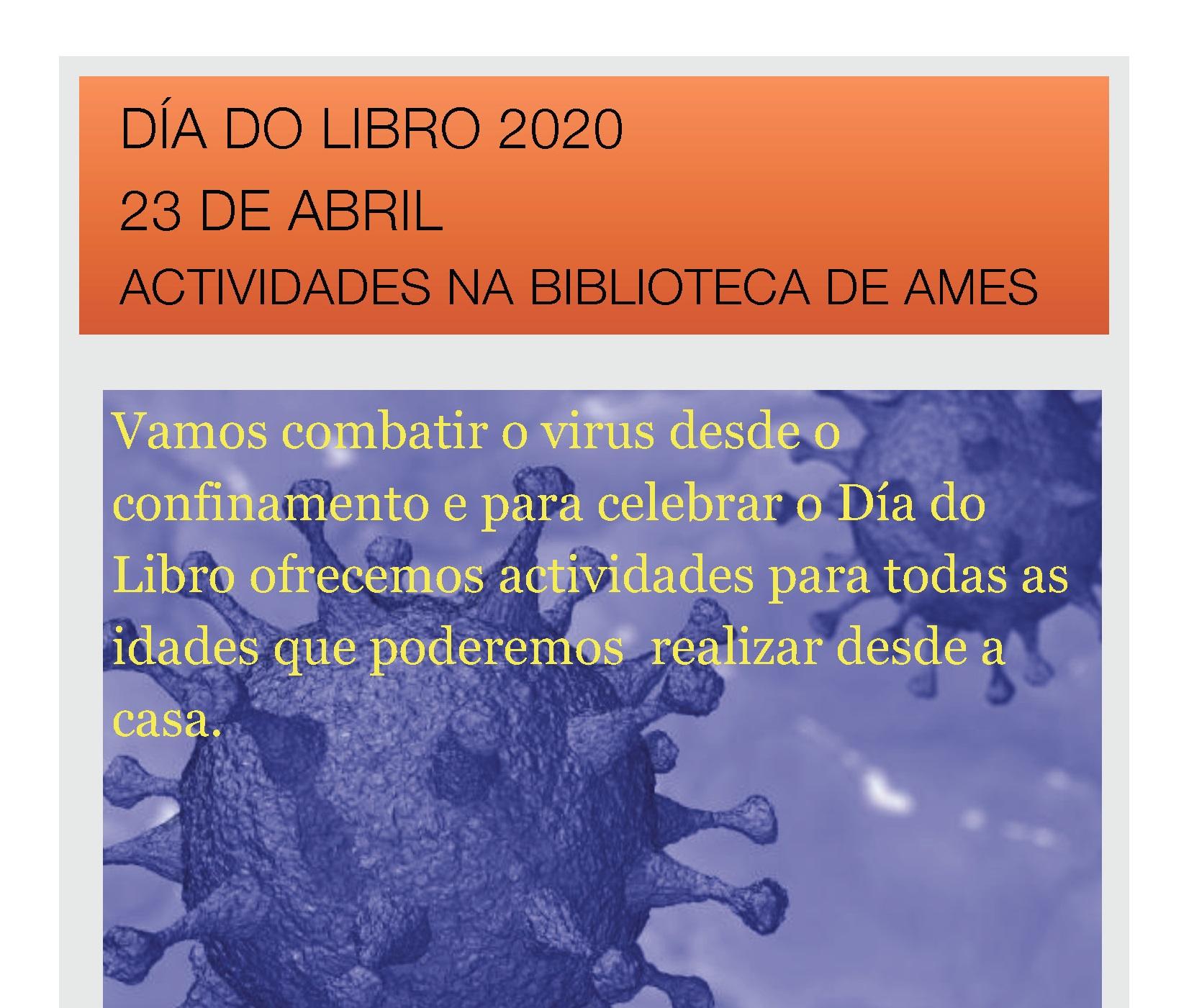 Cartel sobre as diferentes actividades na rede con motivo do Día do Libro