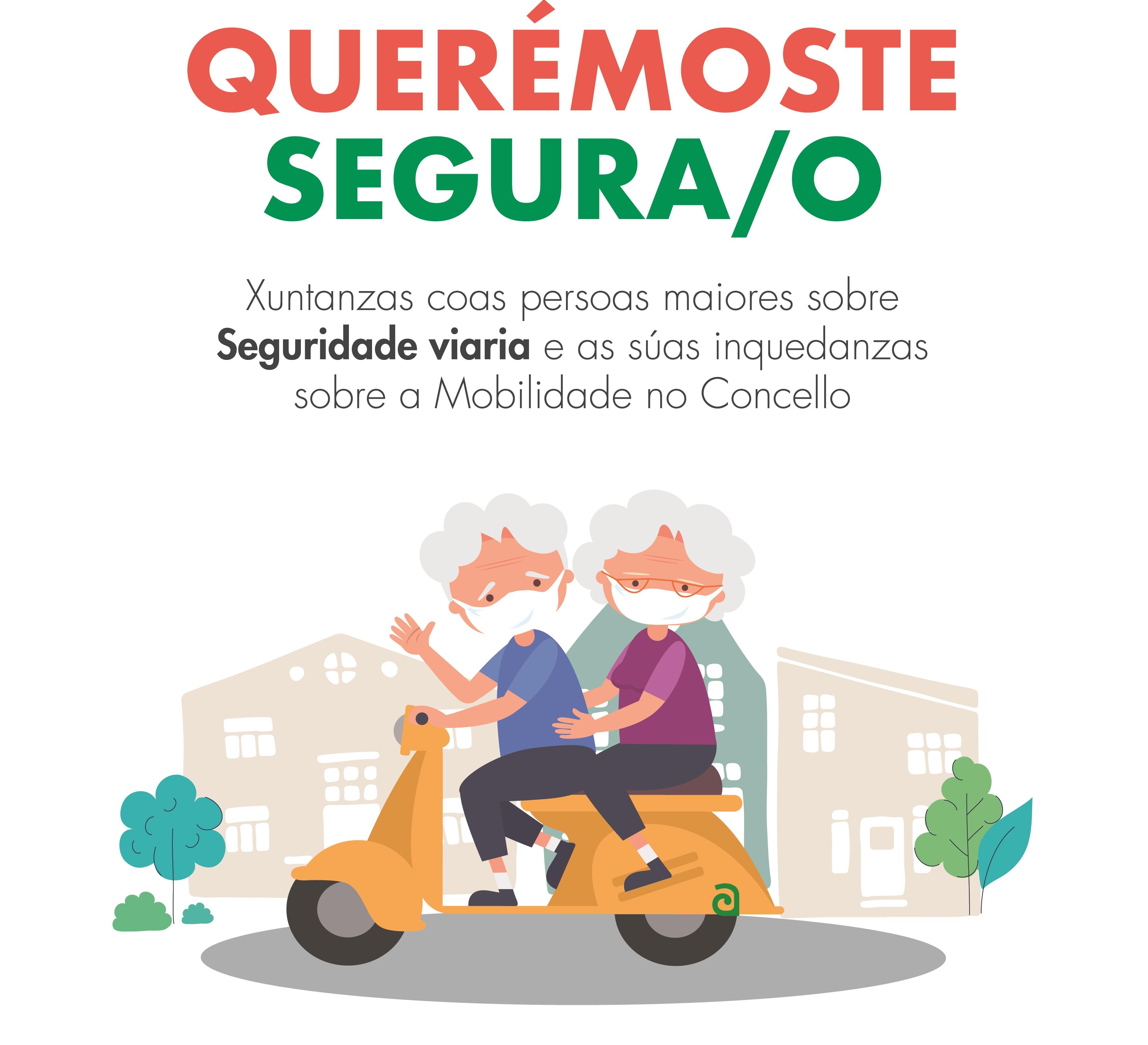 Cartel informativo da charla Querémoste segura/o.