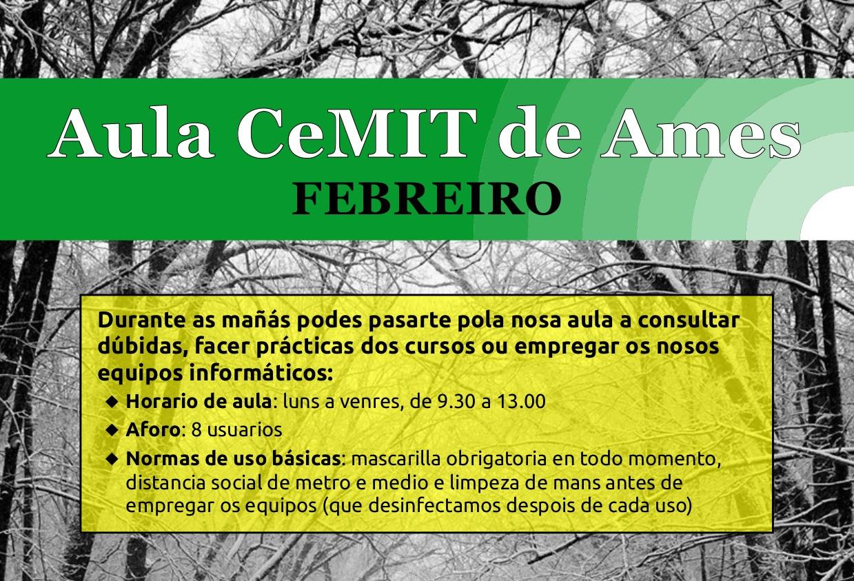 Cartel Aula CeMIT.