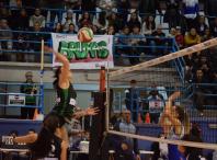 Partido do campionato galego sénior de voleibol  feminino