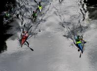 Imaxe da XXXIV edición do descenso do Tambre