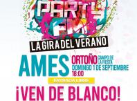 Cartel da festa de cores Holi Party FM