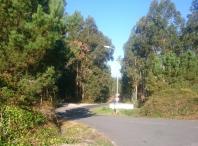Imaxe do viario de acceso ao polígono do Milladoiro dende a estrada Ventín-Coira