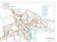 Imaxe cos puntos de recollida de aceite na localidade de Bertamiráns