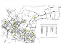 Imaxe cos puntos de recollida de aceite na localidade do Milladoiro