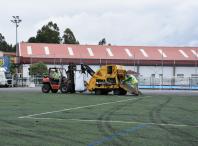 Obras no campo de fútbol de Bertamiráns