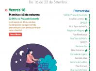 Cartel informativo da marcha ciclista nocturna
