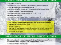 Cartel programación Aula CeMIT.