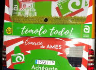 Púxose en marcha unha campaña publicitaria no transporte público do Milladoiro.