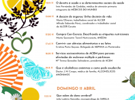 Cartel co programa de faladoiros da Feira da Saúde e Ben-Estar