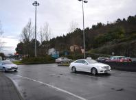 Rotonda de acceso á localidade do Milladoiro