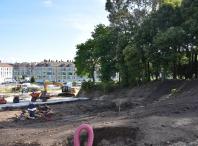 Obras de acondicionamento do parque verde central do Milladoiro
