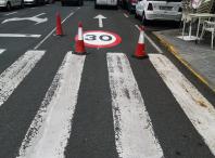 As rúas de Ames xa indican o límite de velocidade a 30