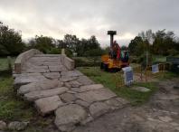 O concelleiro de Turismo visitou as obras de acondicionamento da ponte romana de Aguapesada