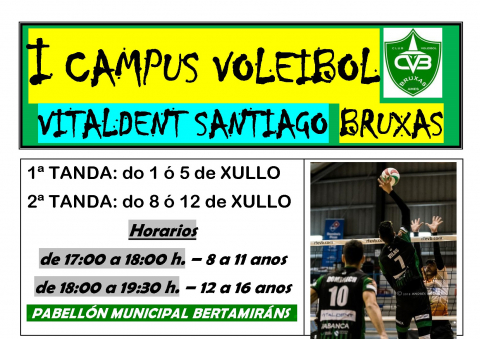 Cartel do primeiro campus de voleibol Bruxas
