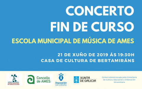Cartel do concerto de fin de curso da EMMA