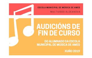 Cartel das audicións da Escola municipal de música de Ames