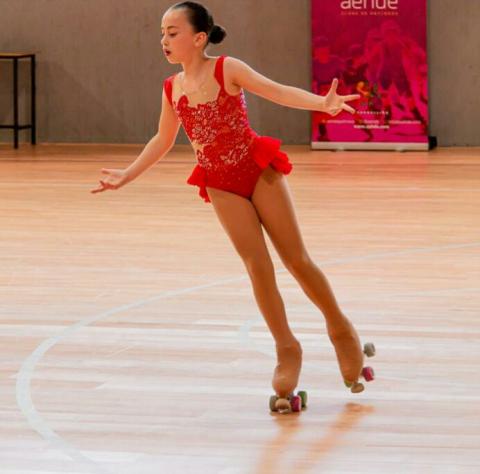Imaxe da patinadora amesá Antía Lourido Villasenín