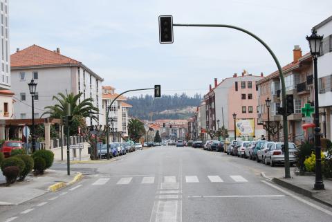 Imaxe da avenida da Maía, en Bertamiráns