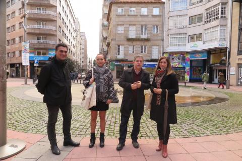 A concelleira Beatriz Martínez visitou a cidade de Pontevedra para coñecer como abordaron a súa planificación urbana