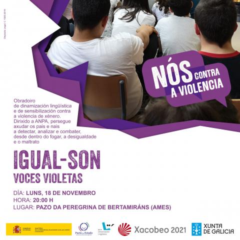 Cartel Voces Violetas