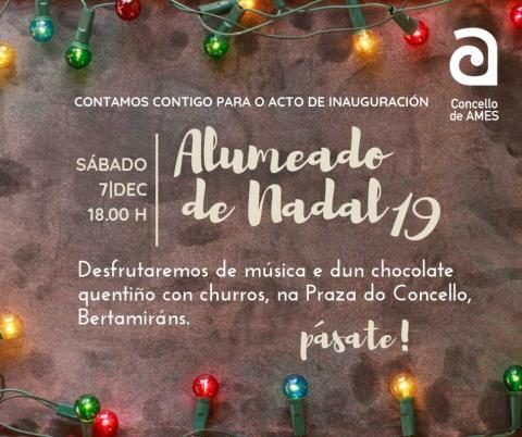 Cartel do acto de acendido do alumeado de Nadal