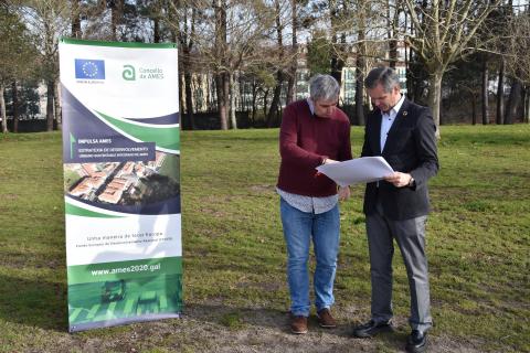 Imaxe da presentación do proxecto do parque verde central do Milladoiro