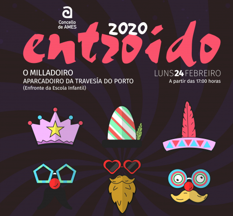 Imaxe do cartel da Festa de Entroido 2020