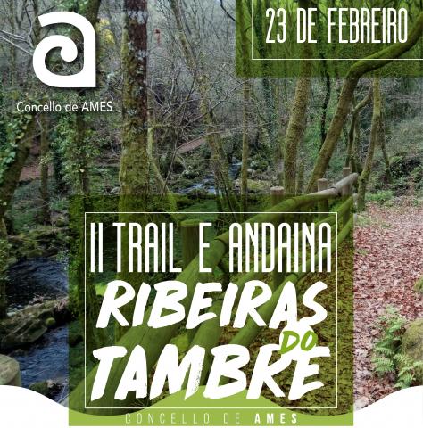 Imaxe do cartel do Trail e Andaina Ribeiras do Tambre