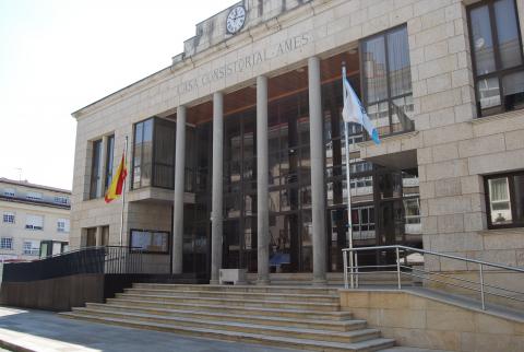 Imaxe da Casa do Concello, en Bertamiráns