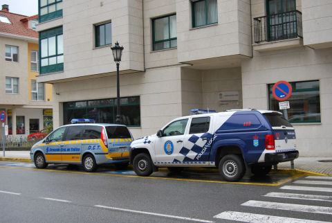 Imaxe da entrada da oficina municipal da Policía Local