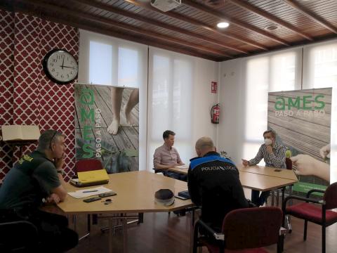 Imaxe da reunión do Comité de coordinación policial