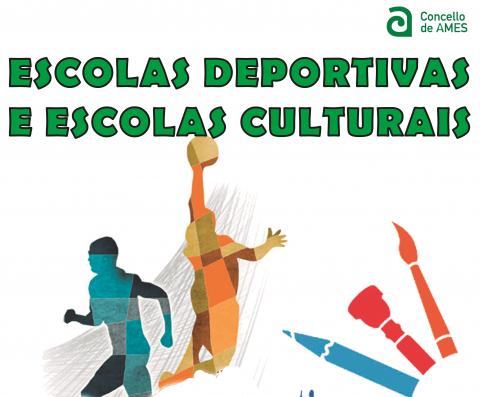 Cartel informativo das Escolas deportivas e culturais