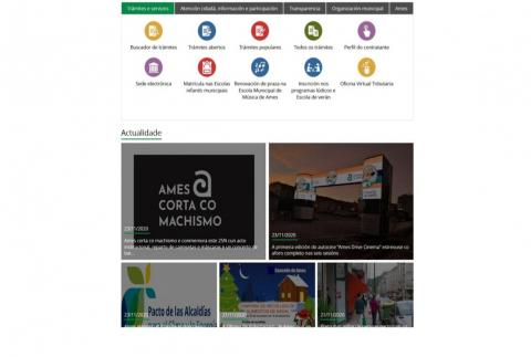 páxina web.