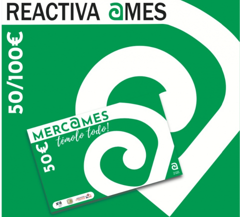 Cartel da campaña de apoio ao comercio local Merc@mes