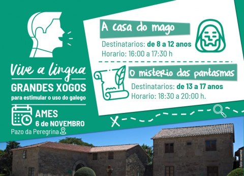 """Ames acolle o programa """"Vive a Lingua"""" o 6 de novembro, con dúas actividades lúdicas para rapazada dos 8 aos 17 anos"""