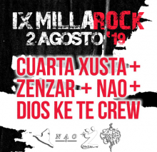 Portada do cartel do IX Millarock 2019