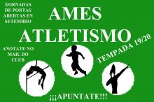 Cartel das xornadas de portas abertas do club Ames Atletismo