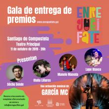 O Teatro Principal de Santiago de Compostela acolle hoxe a gala de entrega de premios do proxecto Enreguéifate