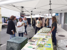 O Concello instalou unha carpa con información sobre o proxecto de compostaxe de residuos orgánicos municipais