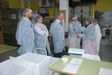 Imaxe da visita ao comedor do CEIP Agro do Muíño