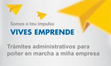 Cartel do taller formativo sobre os trámites administrativos necesarios para poñer en marcha unha empresa