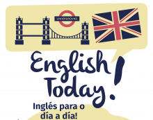Cartel do curso de inglés English Today!